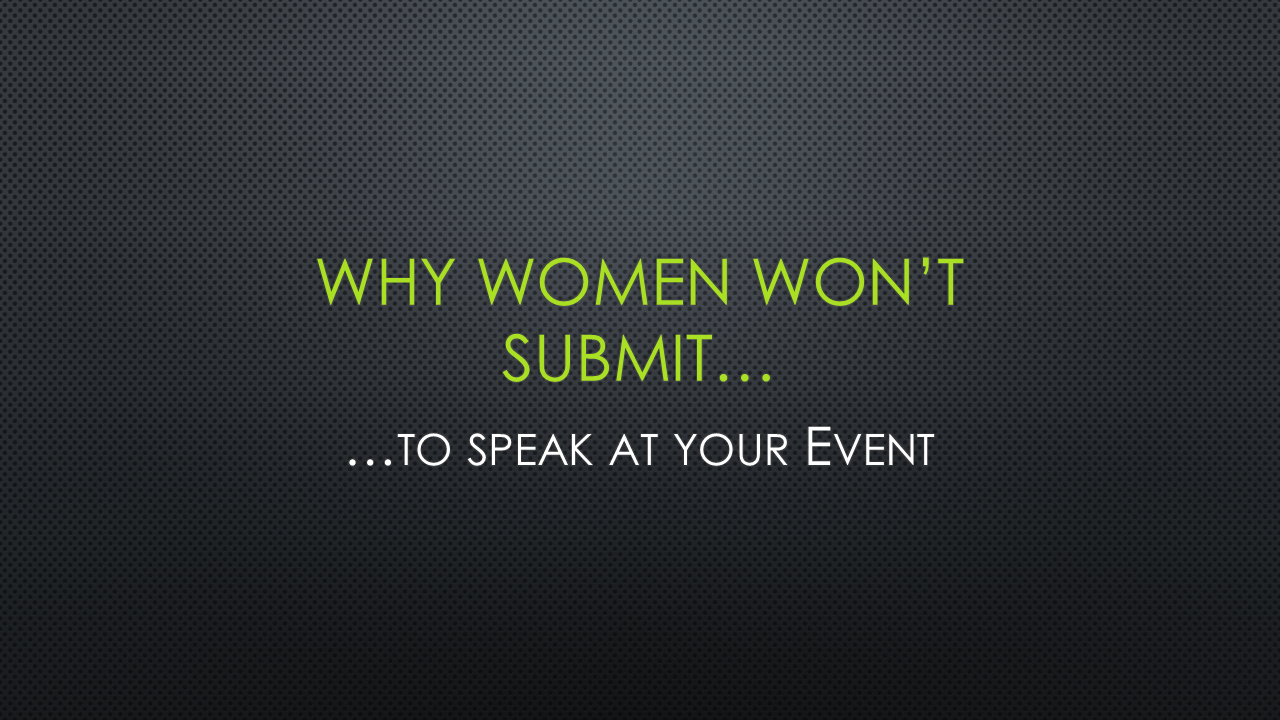 Why Women Won't Submit - Slide