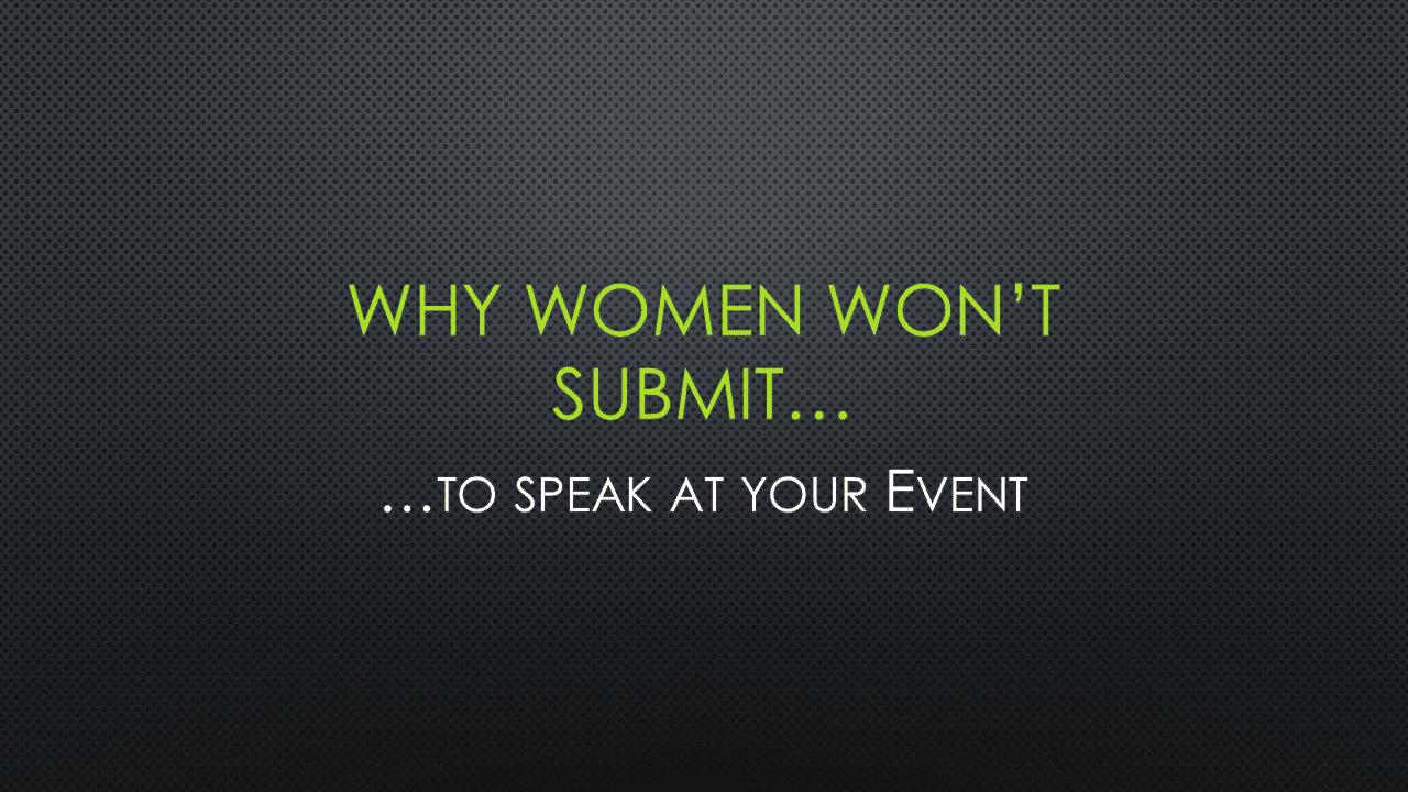 Why Women Won't Submit - Slide