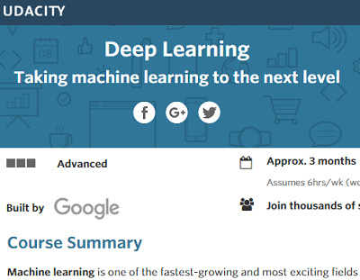 Google Offers New Deep Learning Course on Udacity ...